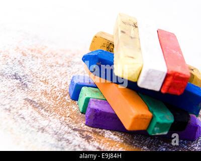 Pastels artistiques colorées Banque D'Images