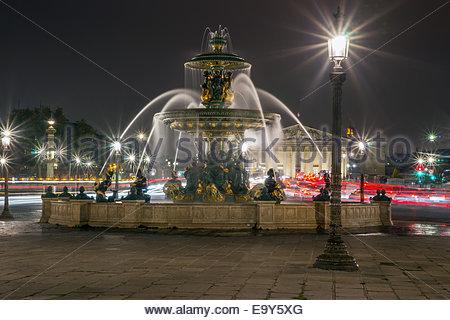 Paris - Place de la Concorde Banque D'Images
