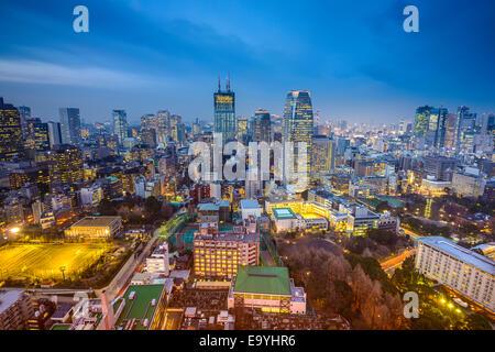 Tokyo, Japon paysage urbain dans le Minato Ward. Banque D'Images