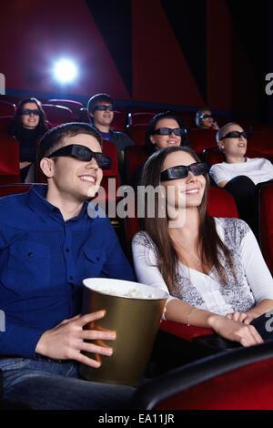 Dans le cinéma Banque D'Images