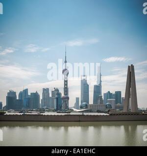 Les toits de Shanghai Pudong dans journée Banque D'Images