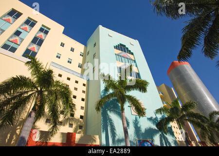Bâtiment de style art déco de Washington Avenue, SOUTH BEACH MIAMI BEACH FLORIDE USA Banque D'Images