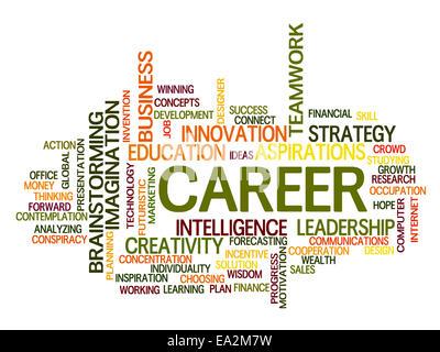 Mots clés liés à la carrière concept dans word tag cloud Banque D'Images