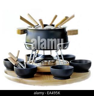 Pour l'ensemble de cuisson fondue Banque D'Images