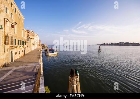Italie, Vénétie, Venise, Cannaregio, promenade du front de mer Banque D'Images