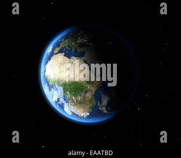 La Terre depuis l'espace. Afrique du Sud Banque D'Images