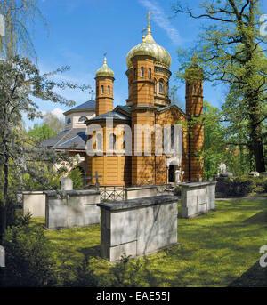 Chapelle Orthodoxe russe, Marie Seebach Foundation sépulture à l'avant, à l'Fuerstengruft ducal, chapelle funéraire Banque D'Images