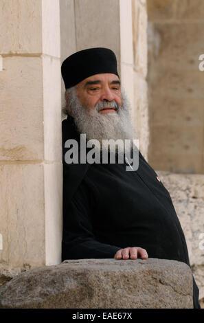 Clerc grec orthodoxe, Jérusalem, district de Jérusalem, Israël