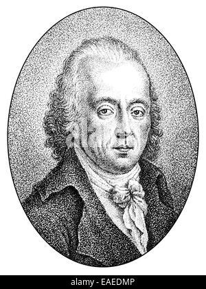 Johann Paul Friedrich Richter ou Jean Paul, 1763-1825, écrivain allemand, Johann Paul Friedrich von Portrait oder Richter Jean Paul