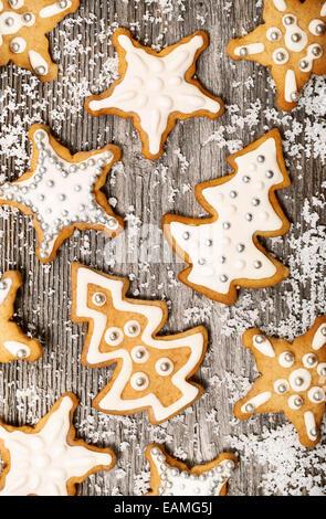 Modèle Gingerbread cookies Banque D'Images