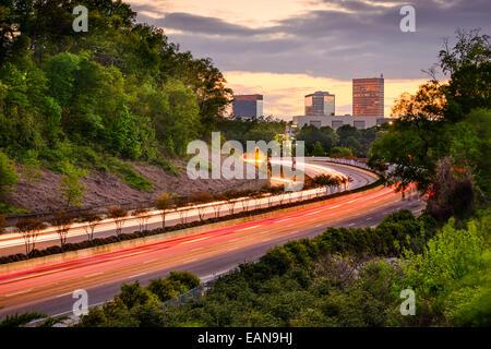 Greenville, Caroline du Sud sur l'Interstate 385 cityscape. Banque D'Images