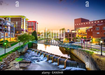 Greenville, Caroline du Sud ville cityscape Banque D'Images
