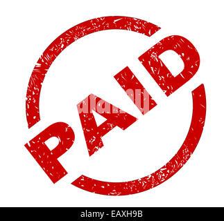 Un timbre d'encre rouge sur un fond blanc Banque D'Images