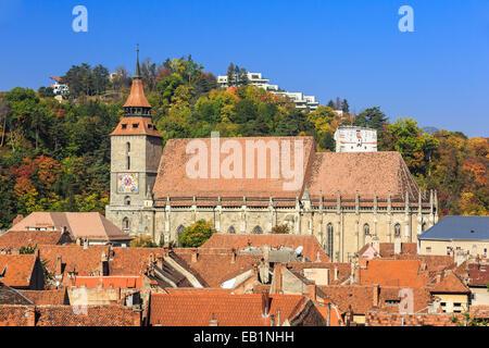 L'église noire, Brasov Roumanie Banque D'Images