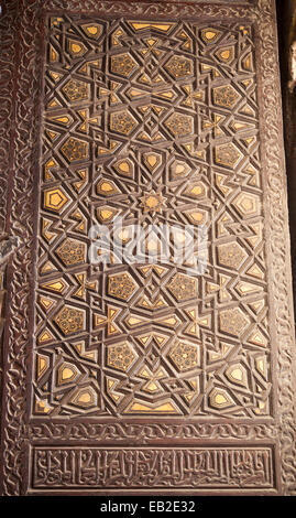 Détail de minbar de mosquée d'amir al-Azbak Yusufi, Le Caire, Egypte