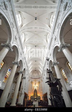 L'intérieur, Chapelle Notre Dame du Finistère église, Bruxelles, région bruxelloise, Belgique Banque D'Images