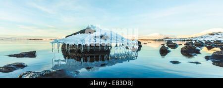 L'Islande, Tthingvellir, Beau Parc National de formation de la glace Banque D'Images