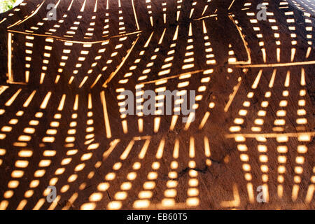 Abstract Light Patterns - Twyfelfontein Gravures Rupestres Site - Damaraland - région de Kunene, Namibie, Afrique Banque D'Images