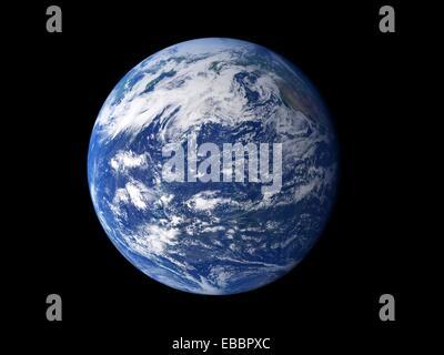 L'eau de la planète vue de l'espace, l'élément le plus remarquable de notre planète est l'eau dans les liquides Banque D'Images