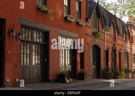 La construction de dépendances sur Cour grâce à Brooklyn Heights