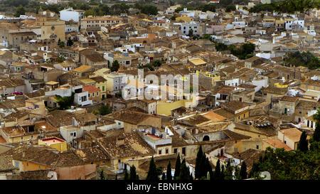 Voir d'Artß à partir de ci-dessus, l'Espagne, Baléares, Majorque, Arta Banque D'Images