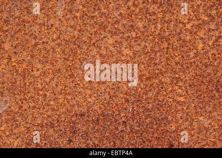 Plaque de fer rouillée, Allemagne Banque D'Images