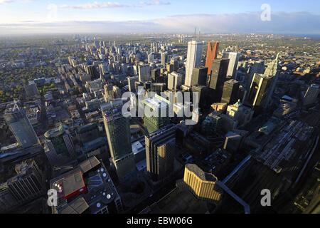 Vue de la ville de La Tour CN de Toronto, Canada, Ontario, Toronto Banque D'Images