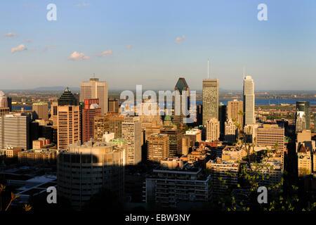 Vue de Montréal depuis le Mont Royal, Montréal, Québec, Canada Banque D'Images