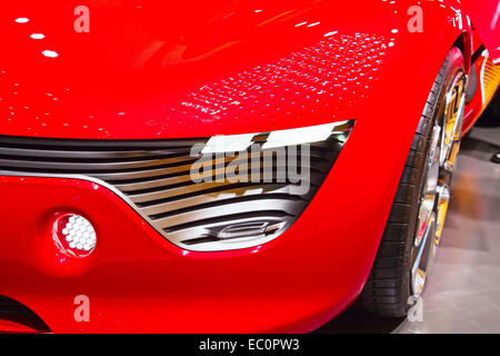 Genève - 8 mars: Le concept car Dezir Renault futuriste sur l'affichage à la 81e International Motor Show de Geneva Banque D'Images