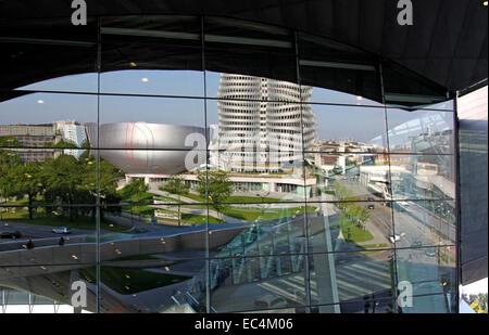 Musée BMW, Munich, Bavière, Allemagne Banque D'Images