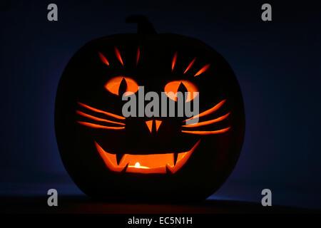 Lanterne Citrouille Halloween Banque D'Images