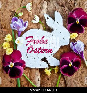 Carte Joyeuses Pâques Banque D'Images
