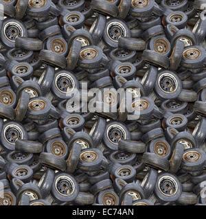Les vieux pneus Motif de fond transparent Banque D'Images