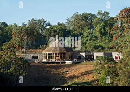Balle Mountain Lodge, forêt Harenna, montagnes, de balle, d'Oromiya en Éthiopie Banque D'Images