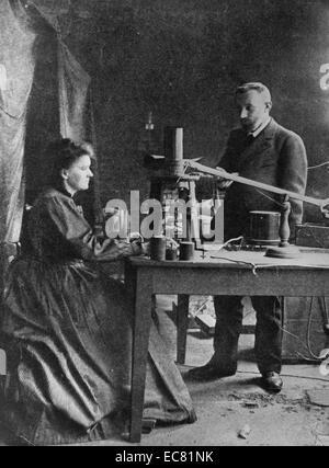 Photographie de Marie Sklodowska-Curie (1867-1934) un Polish et naturalisées-physicien français, lauréat du Prix Banque D'Images