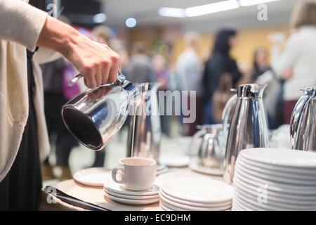Pause café à la réunion d'affaires Banque D'Images