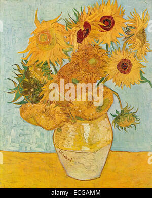 Still Life: Vase avec douze Tournesols, août 1888, Vincent Van Gogh Banque D'Images