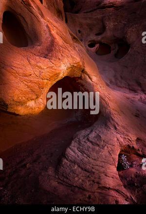 Un détail spectaculaire ,beaux arts libre d'éroder au grès le parc national de la Vallée de Feu à proximité de Las Banque D'Images