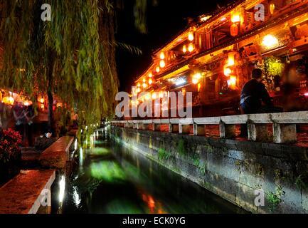 Chine, Province du Yunnan, Lijiang, la vieille ville classée au Patrimoine Mondial par l'UNESCO Banque D'Images
