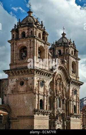 La Compania de Jesus (Compagnie de Jésus) Église, Cusco, Pérou Banque D'Images