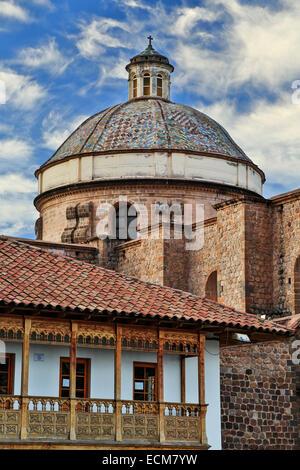 Dome, la Compania de Jesus (Compagnie de Jésus) Église, Cusco, Pérou Banque D'Images