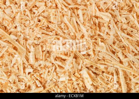 Arrière-plan de copeaux de bois et sciure Banque D'Images