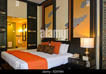 Chambre à l'hôtel Taj tashi, Thimphu, Bhoutan Banque D'Images