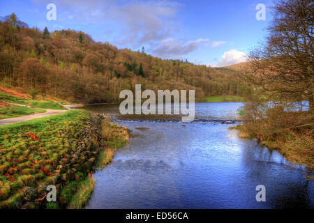 Grasmere dans le Parc National du Lake District, Cumbria. Banque D'Images