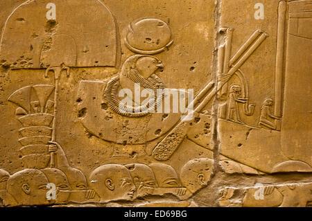 L'Égypte, de la Haute Égypte, vallée du Nil, Louxor, Temple de Karnak Banque D'Images