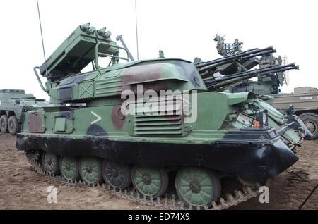 Le ZSU-23-4 Shilka des forces armées polonaises est un blindé léger, autopropulsés système de défense anti-aérienne (SPAD).