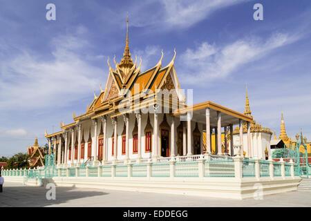 Pagode d'argent, du Palais Royal, Phnom Penh, Cambodge Banque D'Images