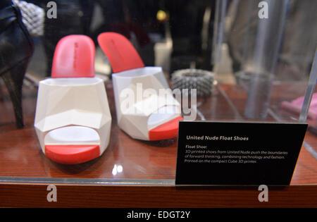 Las Vegas, USA. 6 janvier, 2015. La 3D printed shoes sont vus à la 2015 International Consumer Electronics Show Banque D'Images