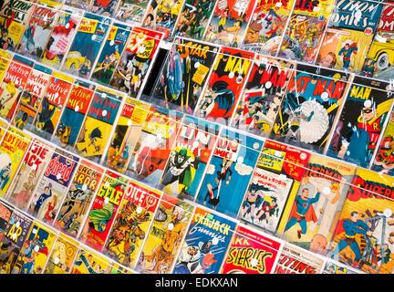 Les bandes dessinées de super-héros Banque D'Images