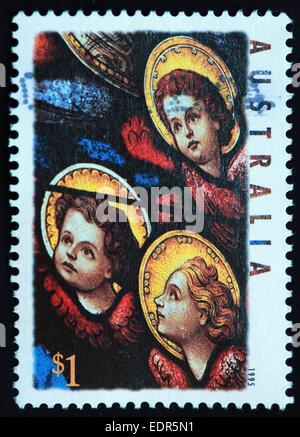 Utilisé et oblitérée Australie / Austrailian Stamp 1995 xmas $1
